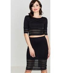 5c6affeda52a LENITIF Spoločenský set sukne a blúzka K314 Black
