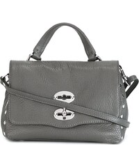 b297acbf93 Zanellato fold-over closure crossbody bag - Grey