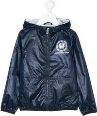 Diesel Kids logo crest print jacket - Blue be7d878c9ed