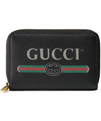 13bb953eee Gucci Gucci Print leather card case - Black