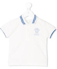 Young Versace Medusa print polo shirt - Neutrals 513392f50f0