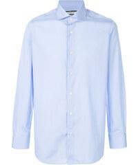 614680855b Fashion Clinic Timeless curved hem shirt - Blue