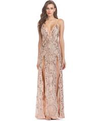 Dámské společenské šaty Ivonet zlaté - zlatá 49807a3060