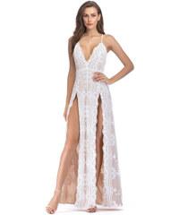 Dámské společenské šaty Ivonet bílé - bílá 9743db4c03