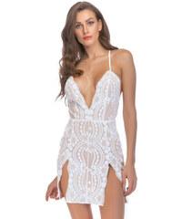 Dámské koktejlové šaty Ginger bílé - bílá 47b1b06725