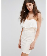 5108c1fbd4c Miss Selfridge Lace Bandeau Mini Dress - White