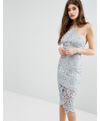 29923723475 Boohoo Lace Midi Bodycon Dress - Blue