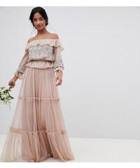 Maya Petite Premium Tulle Layered Maxi Bridesmaid Skirt - Taupe blush 4d835888c7