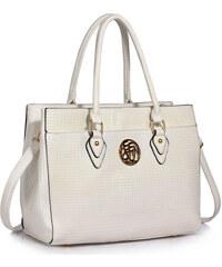 800f0b0332 L S Fashion LS00511 kabelka cez rameno biela