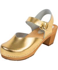 0fa5f89eefca BUXA Dámske Drevákové Sandále Na Vysokom Opätku OS3 - Zlaté