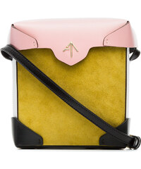Manu Atelier yellow and bubblegum Mini Pristine suede and leather  cross-body bag - Yellow f171d9cb47