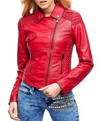 Guess dámská růžová kožená bunda bee02ffac8c