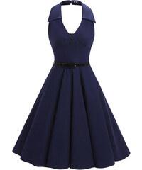 2d64dfbc6a4 Dámské letní šaty Footi modré - modrá