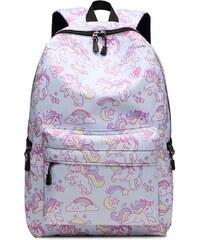 cf0b3df9935 Kono Školní batoh - Unicorn - jednorožec - světle modrý