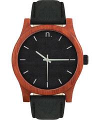 NEATBRAND Drevené čierne pánske hodinky s koženým remienkom CLASSIC 43 a7385cb4243