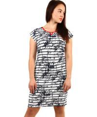 286a34150140 Glara Elegantní dámské pruhované šaty nadměrné velikosti