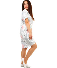 Glara Voľné kvetované letné šaty pre plnoštíhle 371f58dffd6
