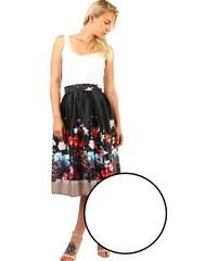 1ab43149926f TopMode Dámská skládaná áčková retro sukně s potiskem