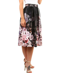 TopMode Dámská skládaná retro sukně (černá 8c8b8d1442