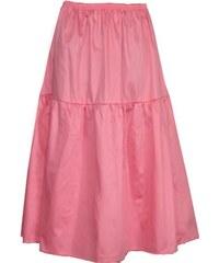 Radka Kudrnová Růžová letní dlouhá sukně volánová z bavlněného plátna 8cf18165c3