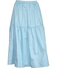 Radka Kudrnová Modrá letní dlouhá sukně volánová z bavlněného plátna b6358492e1