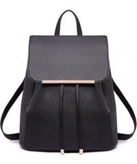 Lulu Bags Černý stylový dámský modní batoh Frell e1ba509146