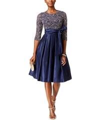 Jessica Howard navy společenské šaty s třpytivým krajkovým topem a  rozšířenou sukní 079511cc6a