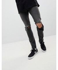 f7f4ad19cba Cheap Monday Tight Skinny Ripped Jeans with Error Message - Error black