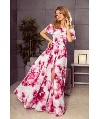 fbbf9e250a53 NUMOCO Dlhé kvetinové šaty s volánom 194-2