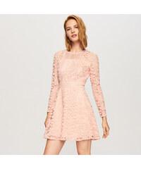 Reserved - Krajkové šaty - Růžová 3744f41a5f