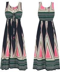 Dámské letní šaty Catelina zeleno-růžové - zelená 9defa8de13a