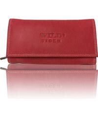 c1b62f21356 Dámská kožená peněženka Wild Tiger červená