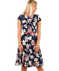 Glara Dámske letné kvetované šaty acdc56b329d