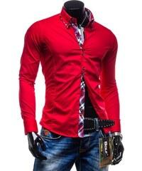 d6a344e2f6b6 Pánska košeľa BOLF 4704 červená