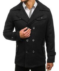 Čierny pánsky zimný kabát BOLF EX906 8a0eb959c3c