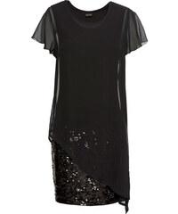 Bonprix Koktejlové šaty z džerseju s flitrami 4c528c848c6
