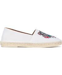 16fead8dd50 Kenzo tiger embroidered espadrilles - White