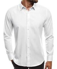 16f00b45829 OZONEE MECH 2122 Pánská Košile Bílá