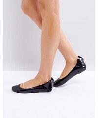 Vivienne Westwood for Melissa Melissa Space Love Gift Bow Flat Shoe - Black bc003cf32d