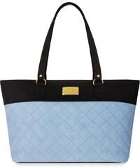 World-Style.cz Prošívaná shopperka dámská kabelka loďka - černo-modrá 5b56ad9dca2