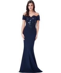 Společenské dlouhé šaty s flitry - Glami.cz c9e28b4603
