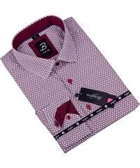 9cd64611f36 Bílá s červeným vzorem pánská košile slim fit Brighton 109909