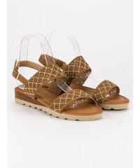 4f9df2aecf7b Primavera Dierkované ploché sandále A78 TA