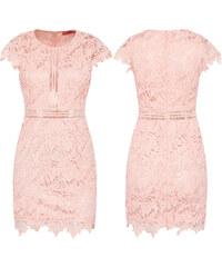 Dámské krajkové šaty Ishelda růžové - růžová 81f3cf874f