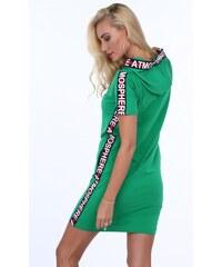Fasardi Zelené dámske športové šaty s nápisom ATMOSPHERE na bokoch 52067aacd47