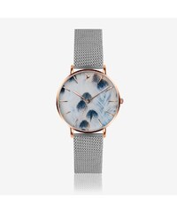 59130302f8b Emily Westwood Feather Print Watch in Silver ⌀38