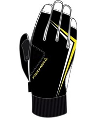 Tchibo Lyžařské rukavice. Detail produktu. Fischer Performance černá žlutá a7cec0b06f
