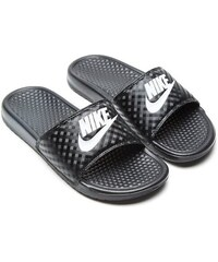 Pánske šľapky NIKE BENASSI JUST DO IT BLACK WHITE f3eb33bf04f