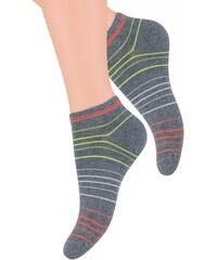 Dámské kotníkové ponožky se vzorem proužků 052 4 STEVEN 902f47d4e5
