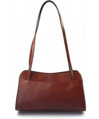 Kožená hnědá brown kabelka přes rameno Lesly VERA PELLE 27012 211b8735b50